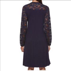 Apt 9 lace yoke Navy A line dress size XL